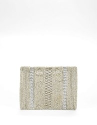 Mary Frances Beaded Crossbody Bag Silver