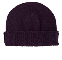 Inis Meain Men's Merino Wool Beanie Purple