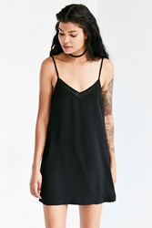 Silence And Noise Sheer Inset Mini Slip Dress Black
