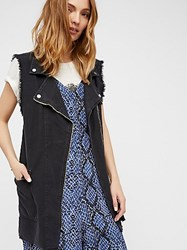 Free People Long Moto Vest