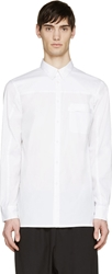 Helmut Lang Optic White Luxe Button Up Shirt