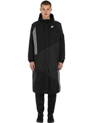 Nike Nsw Taped Patchwork Woven Long Jacket Black