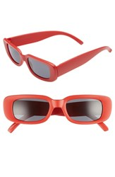 Leith 48Mm Square Sunglasses Matte Red