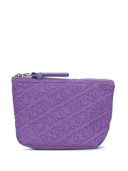 House Of Holland Embroidered Logo Wash Bag Purple
