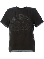 Versus Lion Applique T Shirt Black