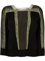 Etro Lace Detail Blouse Black