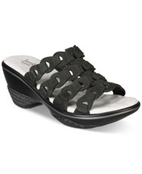 Jambu Women's Romance Comfort Wedges Women's Shoes Black