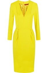 Tamara Mellon Stretch Crepe Dress Yellow
