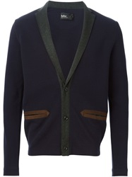 Kolor Shawl Collar Cardigan Blue