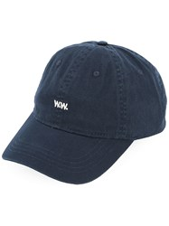 Wood Wood Logo Cap Blue