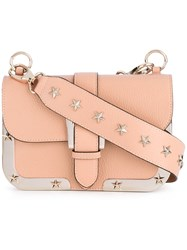 Red Valentino Star Studded Crossbody Bag Women Calf Leather One Size Pink Purple
