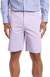 Peter Millar Men's 'Winston' Washed Twill Flat Front Shorts California Lilac