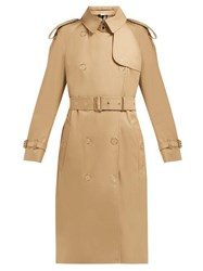 3253836d6b5bee Burberry Double Breasted Cotton Gabardine Trench Coat Beige