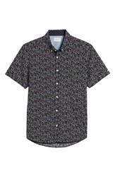 7 Diamonds Dark Star Floral Print Sport Shirt Navy