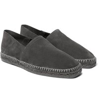 Tom Ford Suede Espadrilles Anthracite