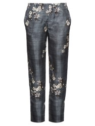 Max Mara Dritto Trousers Blue Print