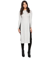 Lanston Side Slit Midi Top Heather Women's Clothing Gray