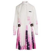Prada Long Sleeved Dress White Pink Black