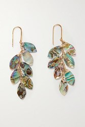 Isabel Marant Ali Gold Tone And Shell Earrings One Size