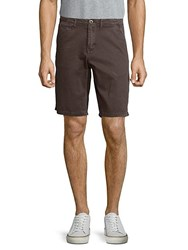 Original Paperbacks Palm Textured Cotton Shorts Mocha