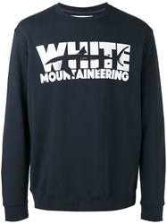 White Mountaineering Shark Print Sweatshirt Men Cotton 0 Blue