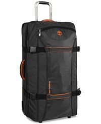 Timberland Twin Mountain 30 Wheeled Duffel Bag Black Burnt Orange