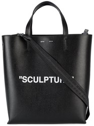 Off White Large Sculpture Tote Bag Leather Black
