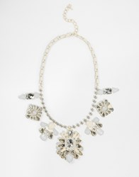 Oasis Statement Necklace White