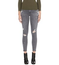 Ag Jeans The Legging Ankle Super Skinny Mid Rise Jeans 8 Years Moonlight Ripped