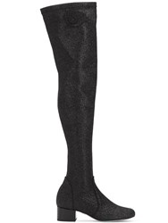 Chiara Ferragni 30Mm Glittered Over The Knee Boots Black