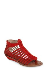 Vince Camuto Women's Seanna Gladiator Sandal Red Suede