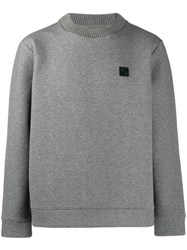 Woolrich Contrasting Patch Jumper Grey