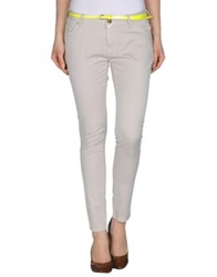 Maison Espin Casual Pants Light Yellow