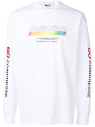Msgm Multivitamin Logo Sweater White