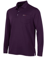 Greg Norman For Tasso Elba 5 Iron Long Sleeve Performance Polo Port