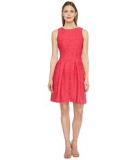Christin Michaels Blanche Sleeveless Fit And Flare Dress Watermelon Women's Dress Pink