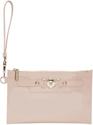 Versace Pink Patent Leather Medusa Pouch