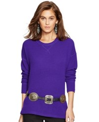 Polo Ralph Lauren Cashmere Crewneck Sweater Chalet Purple