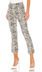 Smythe Stovepipe Pant In Green. Graphic Floral