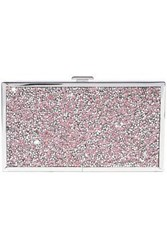 Halston Heritage Woman Embellished Woven And Silver Tone Box Clutch Rose Gold