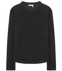Chloe Wool Silk And Cashmere Sweater Black