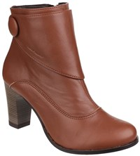 Hush Puppies Willow Slip On Ankle Boots Tan