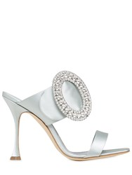 Manolo Blahnik 105Mm Fibiona Swarovski Satin Sandals