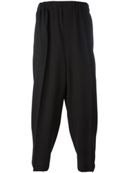 Mcq By Alexander Mcqueen Loose Fit Cropped Trousers Black