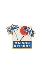 Maison Kitsune Palm Tree Pin Blue