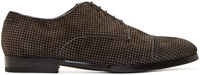 Jimmy Choo Black And Grey Houndstooth Penn Shoes