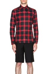 Givenchy Plaid Shirt In Red Checkered And Plaid