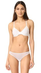 Only Hearts Club Second Skins Racer Back Bra White