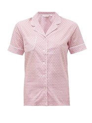 Derek Rose Ledbury 27 Geometric Print Cotton Pyjamas Pink