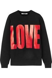 Givenchy Metallic Printed Sweatshirt In Black Cotton Jersey